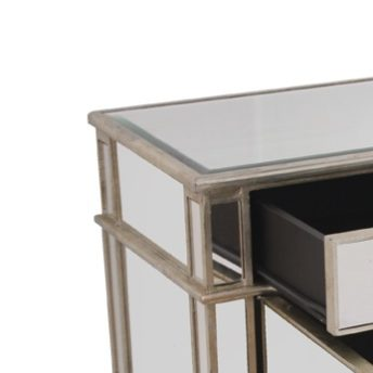 Antique Mirrored Bedside Cabinet