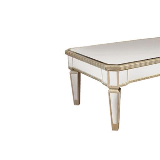 Allie Antique Mirror Rectangular Coffee Table 120cm x 70cm x 45cm