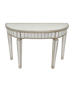 Elegant Mirror Half Circle Console Tables 117cm x 46cm x 76cm
