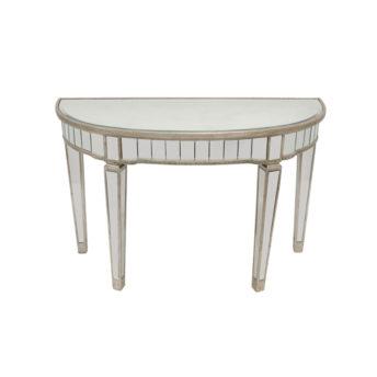 Elegant Mirror Half Circle Console Tables 117cm x 46cm x 76cm
