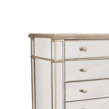 Mirrored 4 Drawer chest