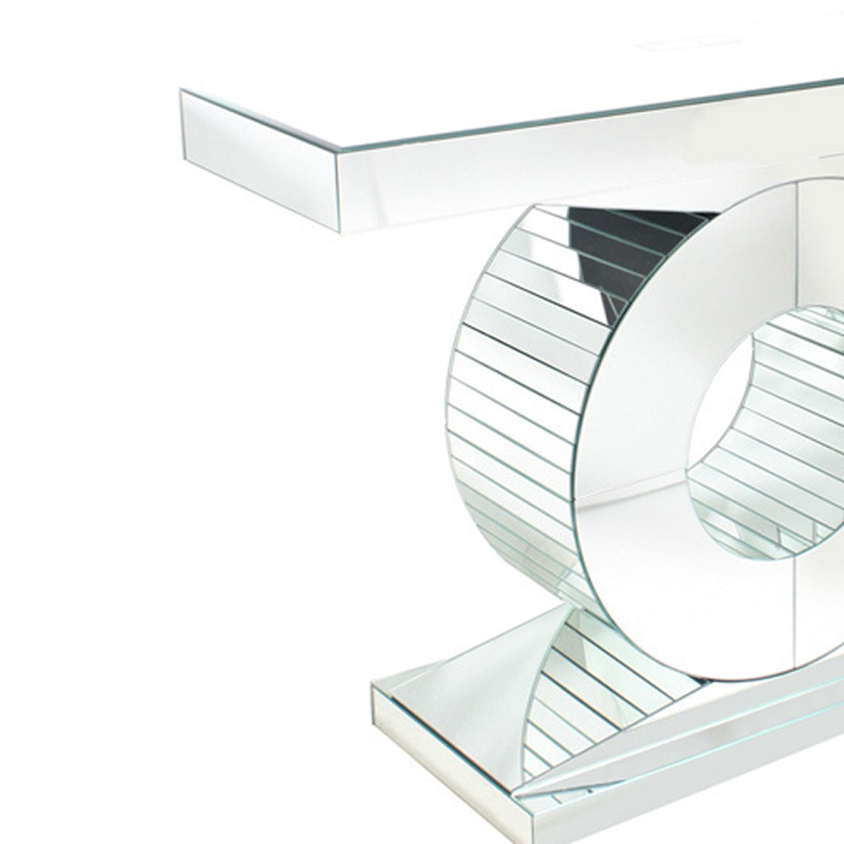 Modern Mirrored Console Table 120cm X 38cm X 83cm Luxe