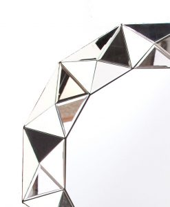 Multi Faceted Wall Mirror 90cm