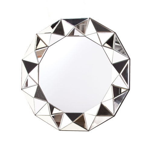 Montreal Round Multi Faceted Wall Mirror 90cm