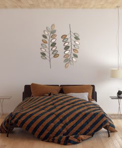 Fern Leaves Wooden and Metal Wall Art