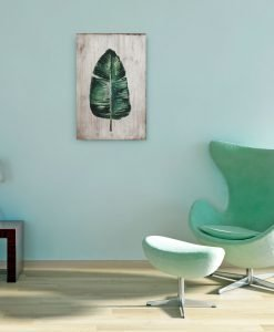 Palm Leaf Wood Panel Wall Art