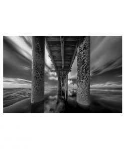 Black and White Pier Aluminium Wall Art