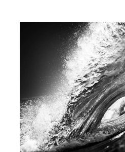 Black and White Wave Aluminium Wall Art