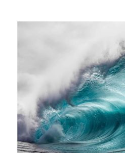 Blue Ocean Sea Wave Photo In Aluminium Frame 60 x 90 cm