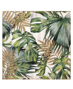 Wood Panel Art Botanical