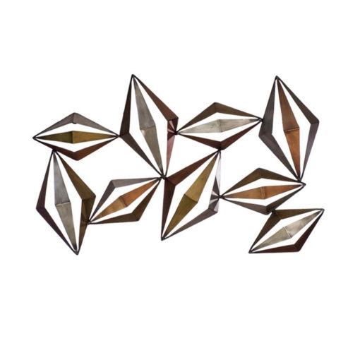 Metal Diamonds 3D Wall Art