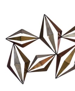 3 Dimensional Metal Diamond Wall Art