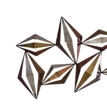 3 Dimensional Metal Diamond Wall Art
