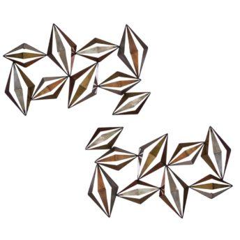 Metal Diamonds 3D Wall Art
