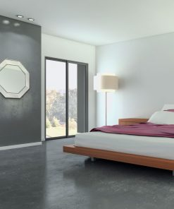 Silver Beaded Hex Wall Mirror