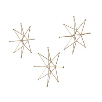 3-D Metal Gold Stars Wall Hanging