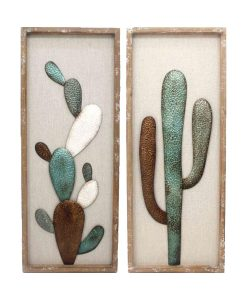Framed Cactus Wall Art