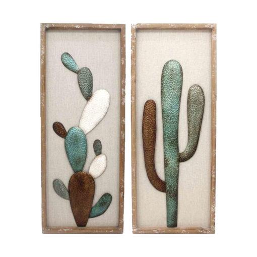 Framed Cactus Wall Art