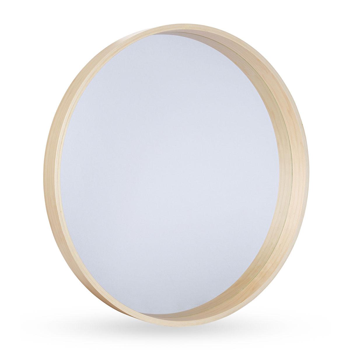 Modern Round Amonra Organic Frame Wall Mirror 25cm Luxe