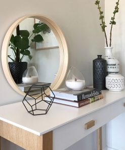 Modern Round Amonra Organic Frame Wall Mirror 25CM