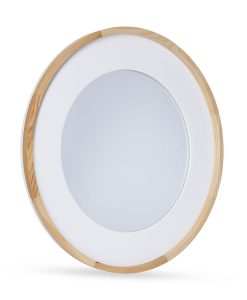 Organic Wood and Resin Tiana Oval Mirror 60CM x 5cm