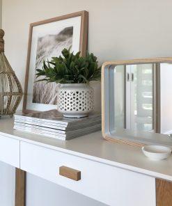 Minimalist Design Ynara Organic Wall Mirror