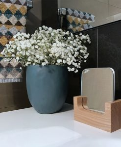 Vyanna Organic Wooden Vanity Rectangle Mirror 12cm x 6cm x 15cm