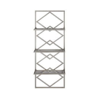 Silvia Antique Silver Wall Shelf 131cm