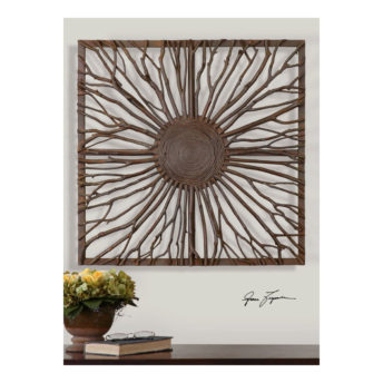 Josiah Square Wooden Wall Art 68cm
