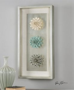 Florenza Ceramic Flowers Wall Art 43cm
