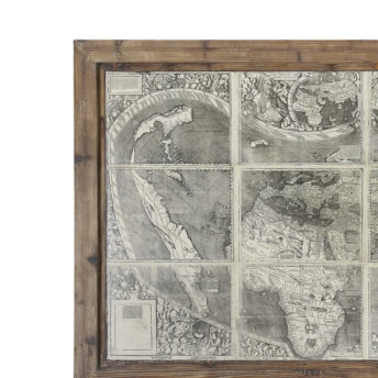 Treasure Map Wood Framed Wall Art 152cm