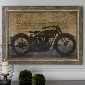 Ride Framed Canvas Wall Art 105cm