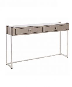 ava copper rose gold mirrored console