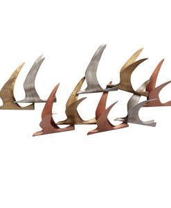Metal Wall Art Birds in Flight 98 x 22 x 38 cm
