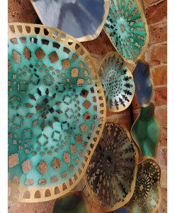 Blue Metal Wall Art