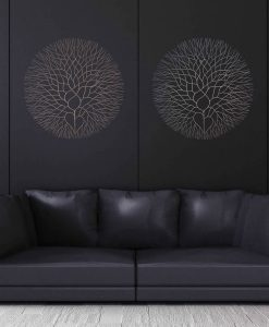 Elegant Tree Metal Wall Art Decor