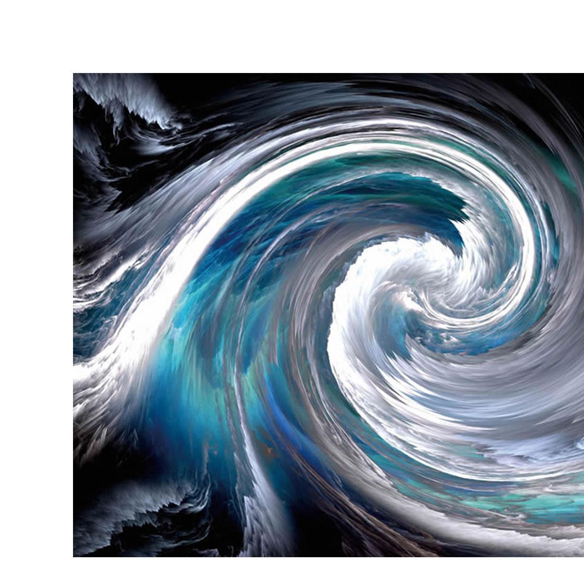 Whirlpool Black And Blue Aluminium Wall Art 60cm X 90cm Luxe Mirrors