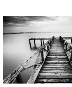 Black and White Jetty Aluminium Wall Art