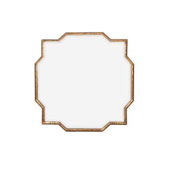 Mahal Gold Iron Frame Mirror 90cm
