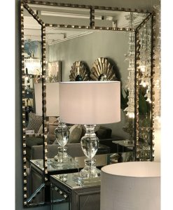 Holly Silver Iron Wall Mirror 4cm