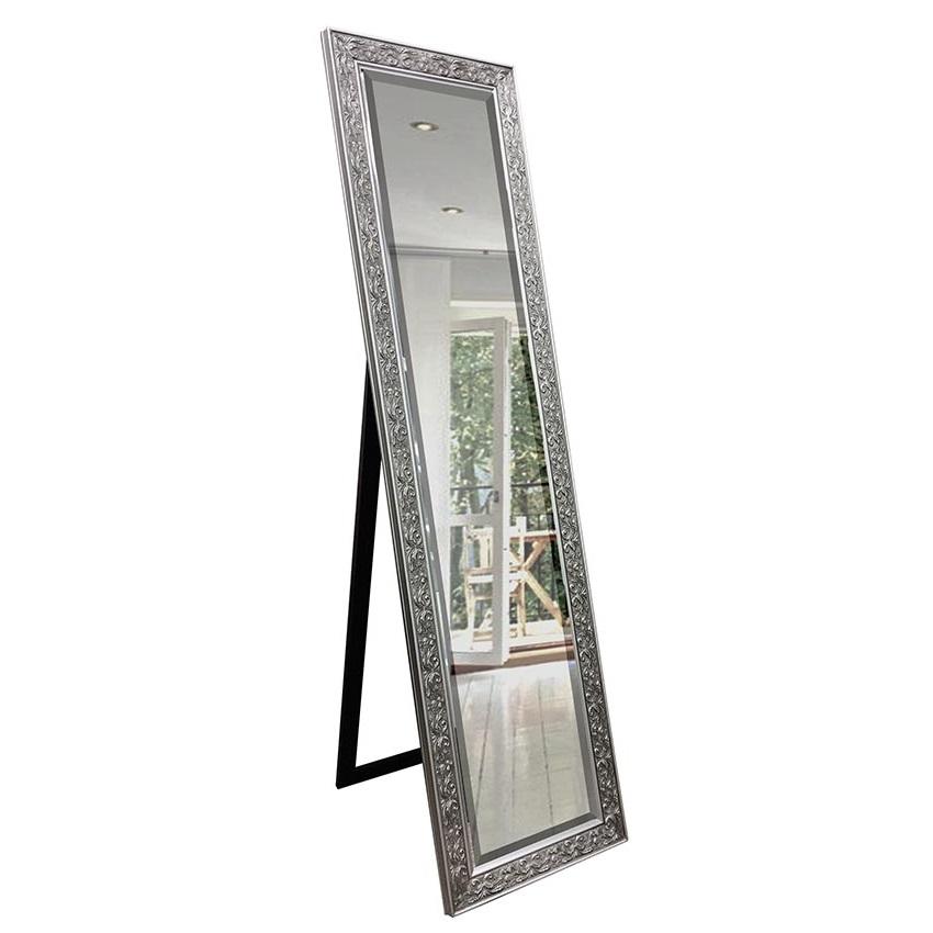 Decorative cheval mirror silver 160cm x 40cm luxe mirrors for Mirror 40cm wide