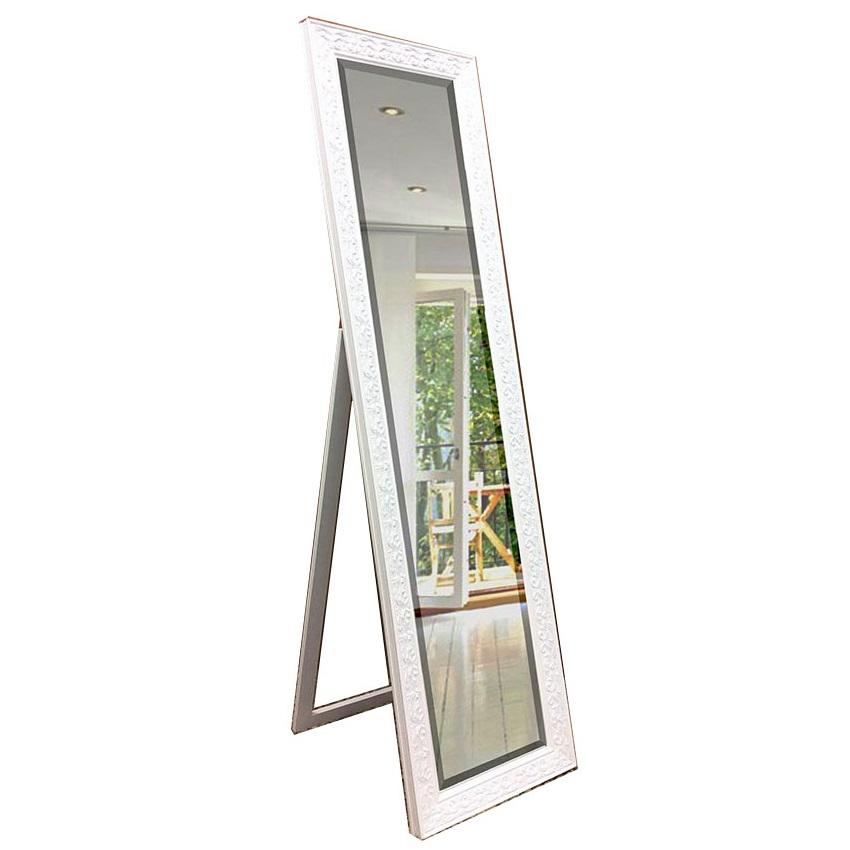 Decorative cheval mirror white 160cm x 40cm luxe mirrors for Mirror 40cm wide