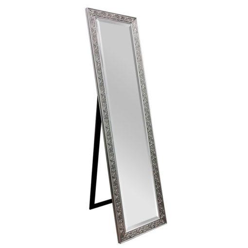 Decorative Cheval Mirror Silver