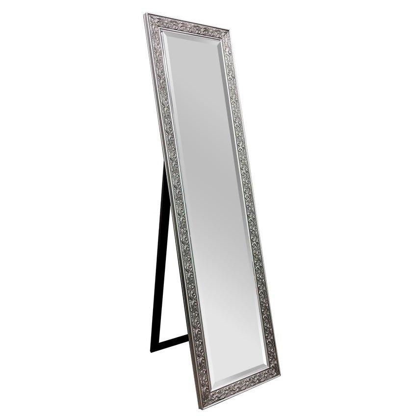 Decorative Cheval Mirror Silver 160cm X 40cm Luxe Mirrors