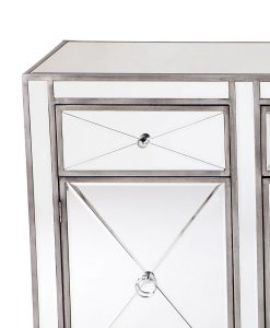 Apolo Antique Silver Mirrored Buffet