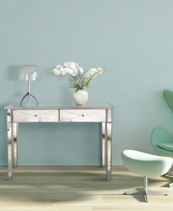 _Apolo Antique Silver Mirrored Console Table