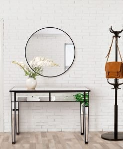 Apolo Black Mirrored Console Table 121cm
