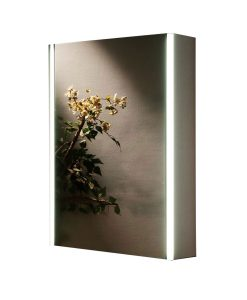Emerald LED Backlit Mirrored Bathroom Cabinet Bluetooth Stereo Remer 50cm x 70cm