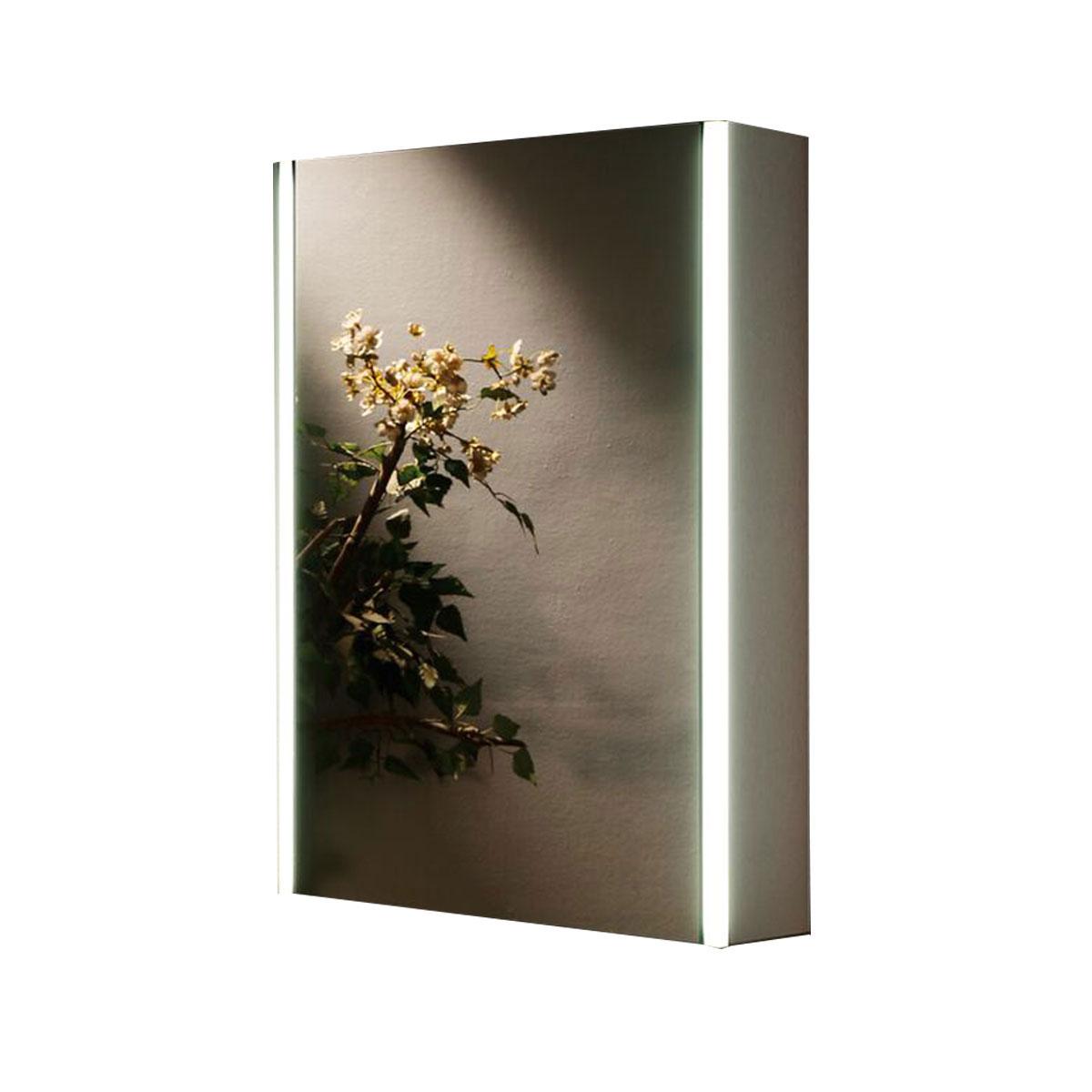 Emerald led backlit mirrored bathroom cabinet bluetooth for Bathroom cabinets 50cm wide