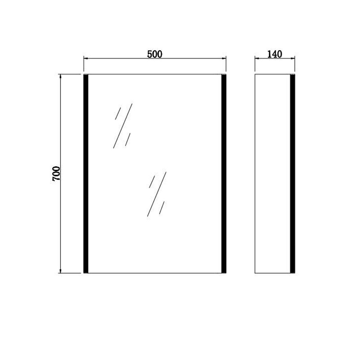 Emerald Led Backlit Mirrored Bathroom Cabinet Bluetooth